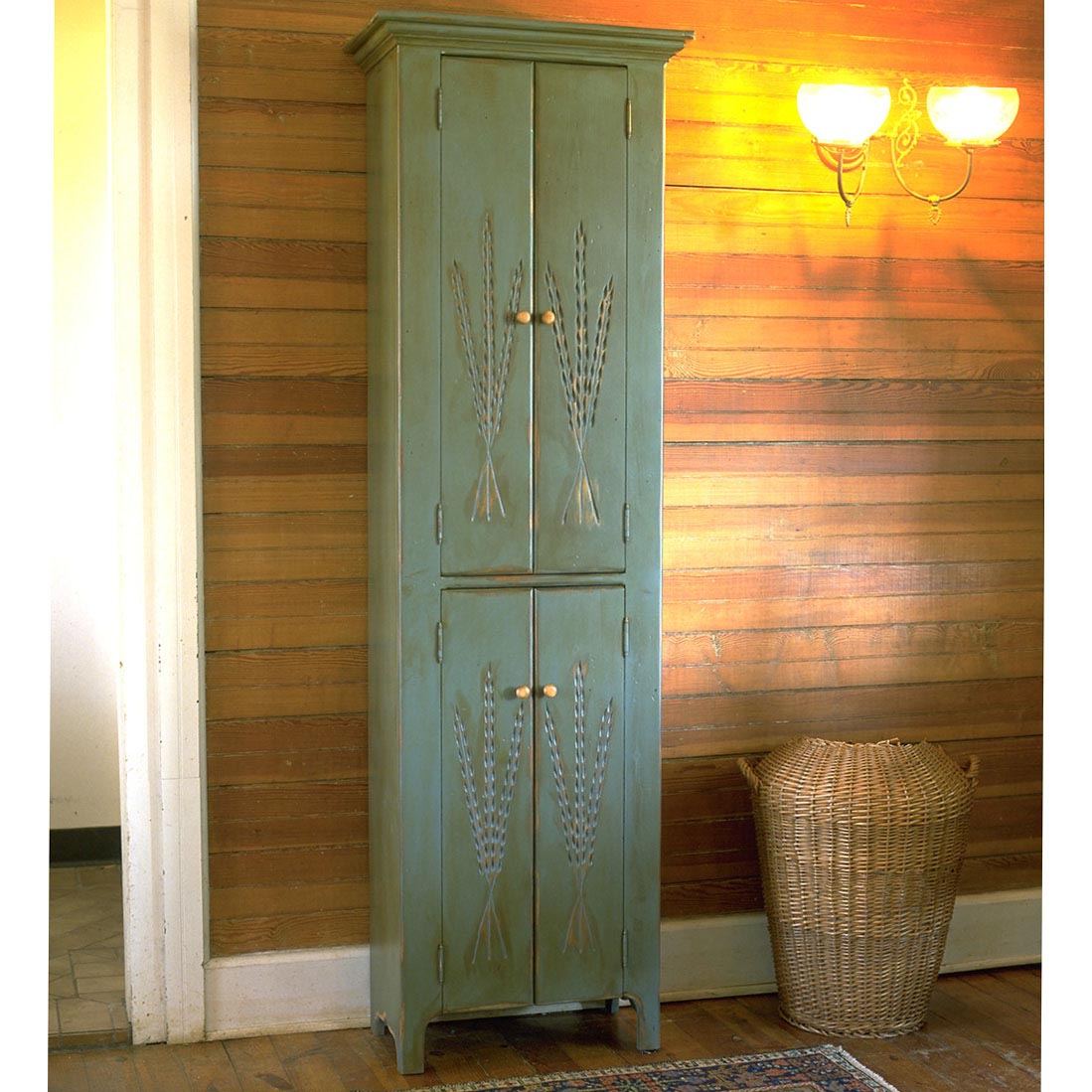 Southern Pine Four Door Cupboard