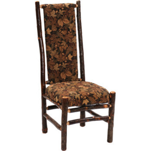Hickory High Back Upholstered Back Side Chair