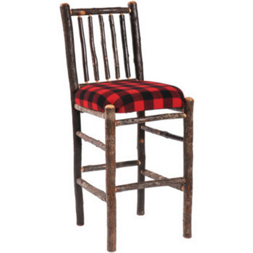 Hickory Barstool - Upholstered Seat