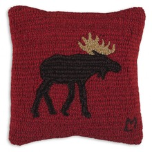 More about the 'Brown Moose Hooked Pillow by Chandler 4 Corners' product