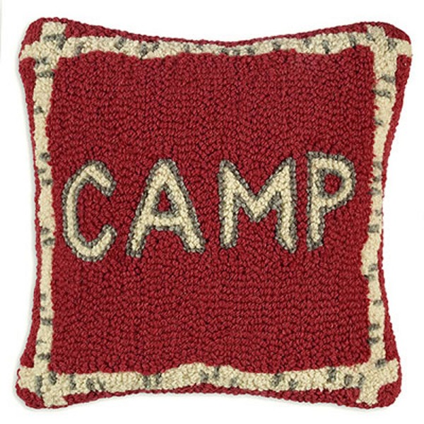 Chandler 4 Corners Camp Hooked Wool Pillow With Free