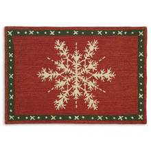 Snow Crystal Flake Rug