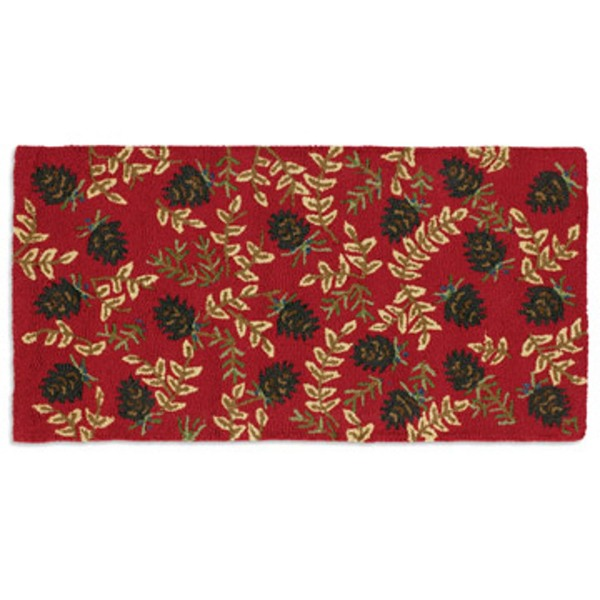 Ruby Pinecones Rug