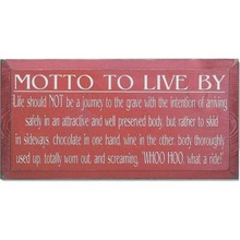 More about the 'Vintage Sign - Motto To Live By (Wine, Beer, etc.)' product