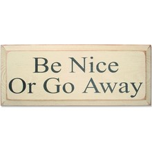 More about the 'Vintage Sign - Be Nice' product