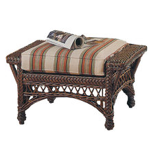 Bar Harbor Wicker Ottoman