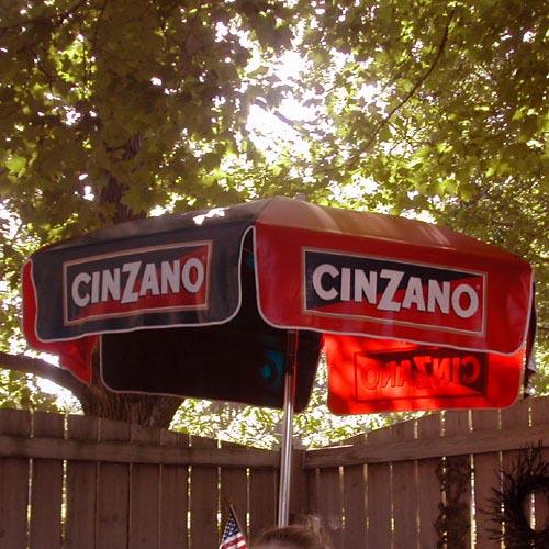 Wonderful 6u0027 CinZano Patio Umbrella. The Fastest Selling Logo Umbrella Ever