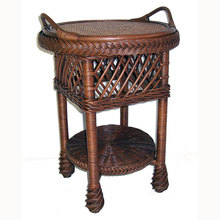 Bar Harbor Wicker Tray Table
