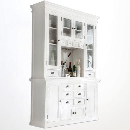 WHITE KITCHEN HUTCH Buffet China Cabinet Storage Cupboard ...