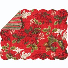 Poinsettia and Pine Placemats/SET OF 4