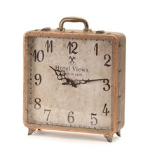 Suitcase Table Clock