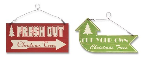 More about the 'Fresh Cut Tree Signs (2 asst)  Red/Green' product