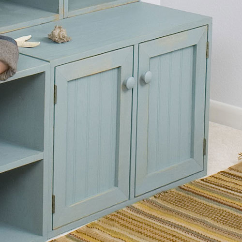 Double Deep Locker Bench with Doors