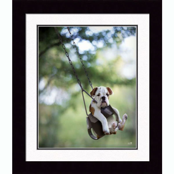 Buster Swinging Bull Dog Print