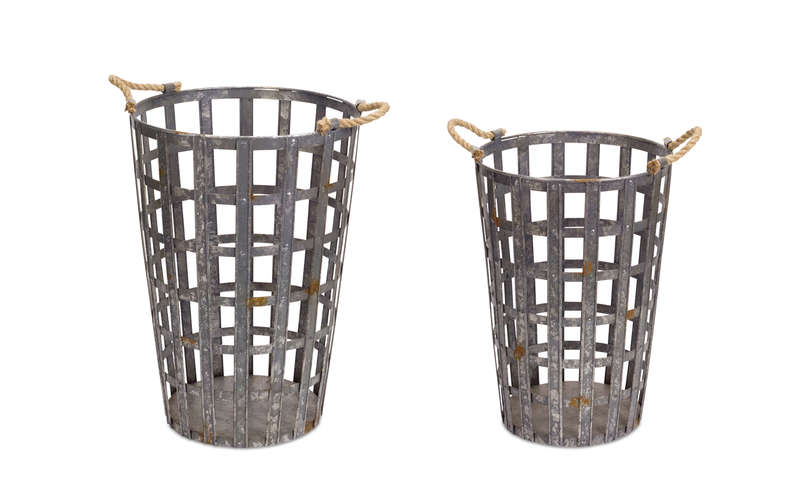 "Bucket (Set of 2) 19.5""H, 22""H Metal"