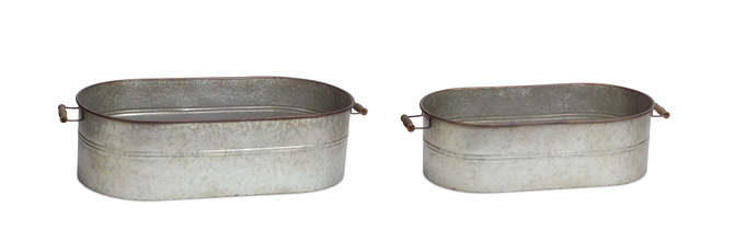 "More about the 'Oval Containers (Set of 2) 7""H,  8""H Metal' product"