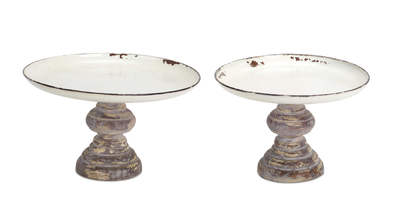 "More about the 'Tray on Pedestal (Set of 2) 6""H Metal' product"