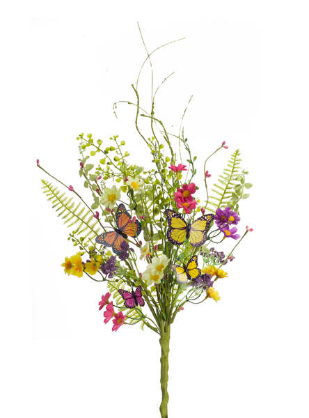 Mixed Floral/Butterfly Bush (Set of 6)