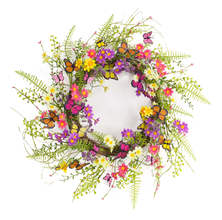 Mixed Floral/Butterfly Wreath