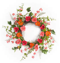Moss Rose Wreath