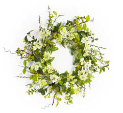 "Blossom Wreath 25""D Polyester/Plastic"