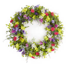 More about the 'Mixed Floral Wreath' product