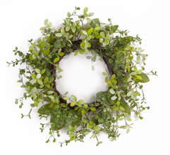 "Foliage Wreath 22""D Polyester/Plastic"