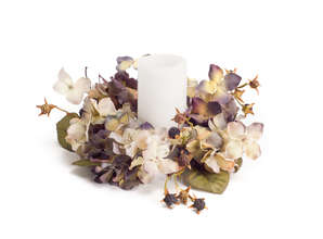 Hydrangea Candle Ring (Set of 6)