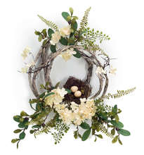 Hydrangea/Bird Nest Wreath (Set of 4)