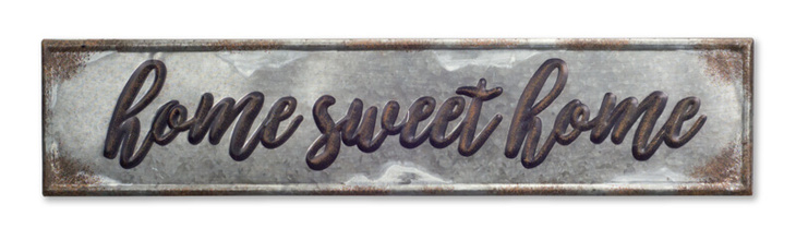 "More about the 'Home Sweet Home Plaque (Set of 2) 36""x8""H Metal' product"