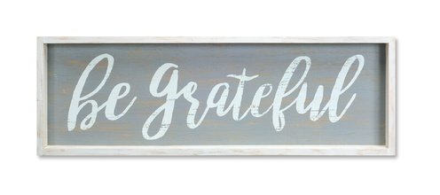 "More about the 'Be Grateful Framed Plaque (Set of 2)  30""x10""H Wood/MDF' product"