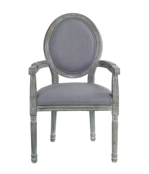 Captains Arm Chair Grey (Set of 2)