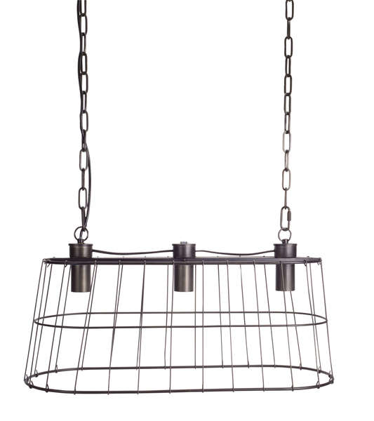 "Ceiling Light 27""x55"" Glass/Metal"