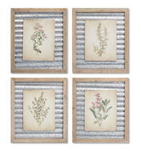 "More about the 'Framed Floral Prints (Set of 4) 14""L x 16""H Wood/Metal' product"