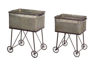"More about the 'Wash Tub (Set of 2) 24""H, 28""H Metal' product"