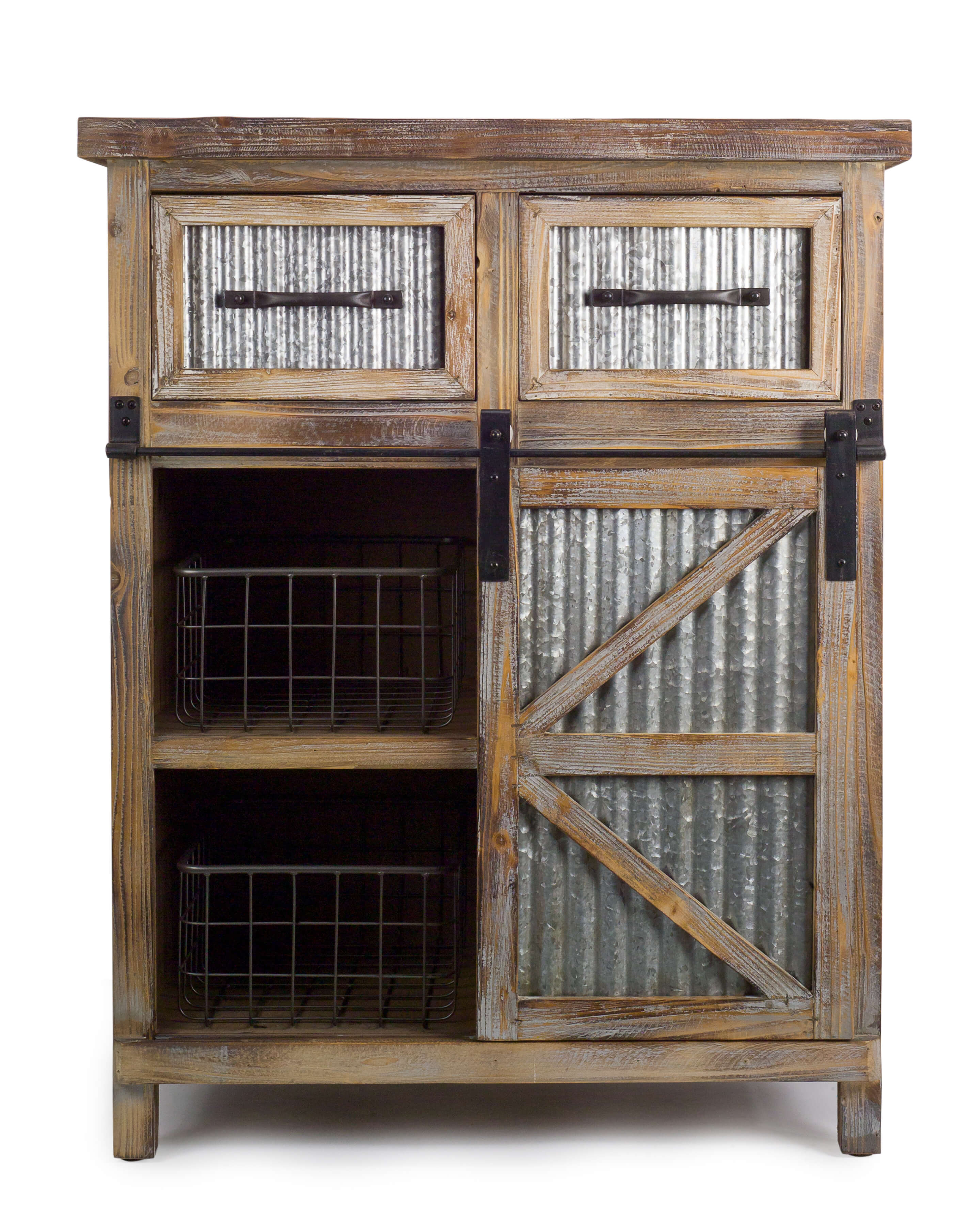 Armoire Comptoir De Famille farmhouse cabinet w/baskets