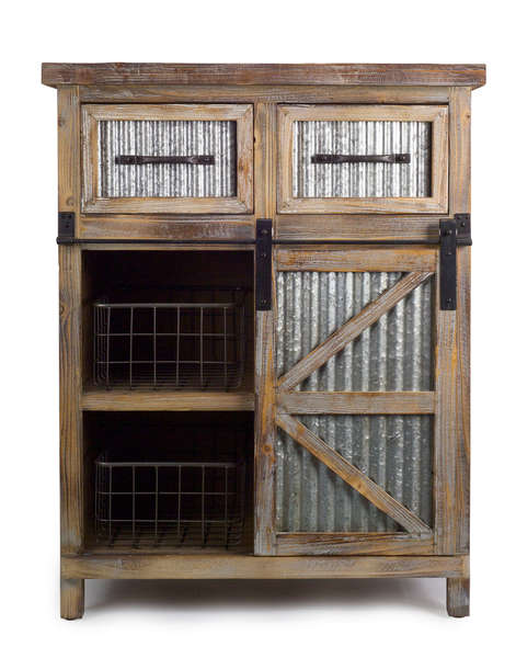 Farmhouse Cabinet w/Baskets