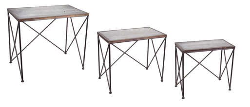 "More about the 'Accent Table (Set of 3) 24""-22""H Wood' product"