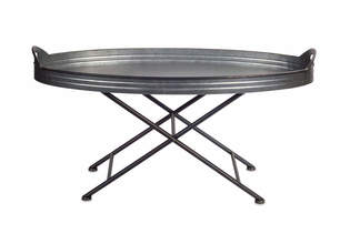 "Tray Table 36""x18""H Metal"