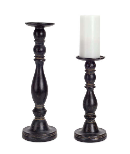 "Candleholder (Set of 2) 12""H, 17""H Resin"