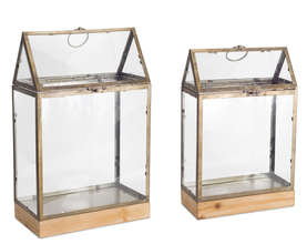 "More about the 'Terrarium (Set of 2) 18""H, 21.5""H Glass/Metal' product"