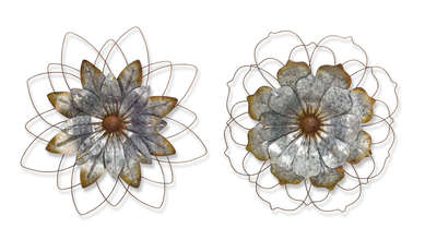 "More about the 'Flower (Set of 2) 21""D Metal' product"