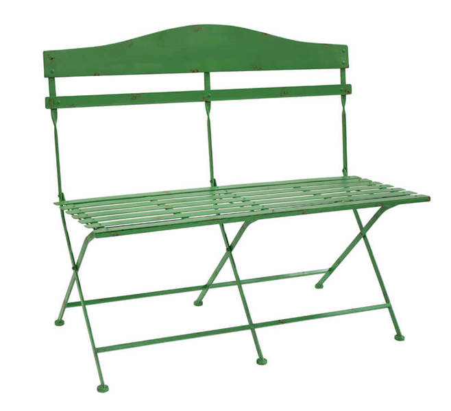 "Slotted Bench 40.5""x37""H Iron"