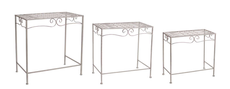 "Table (Set of 6) 17.5""H, 20.5""H, 23.5""H Iron"