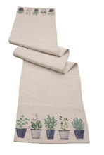 "Potted Herb Table Runner (Set of 2)  72""L"