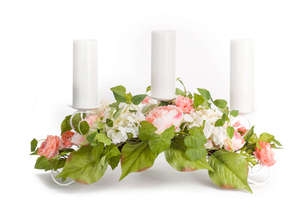 "More about the 'Mixed Floral Candleholder 31""x11""H' product"