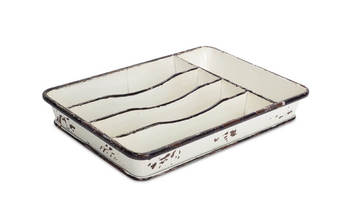 "Divided Tray (Set of 2) 9""x13.5""x1.5""H Metal"