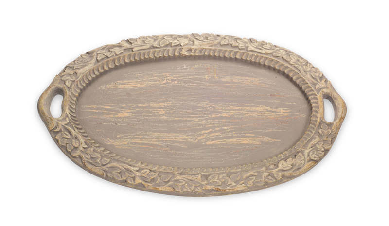 "Oval Tray 26""L Resin"