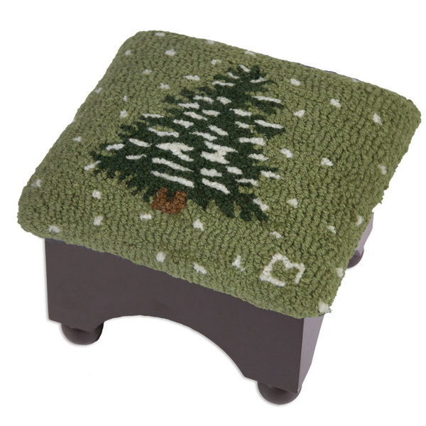 Flurries tree with snowflakes foot stool