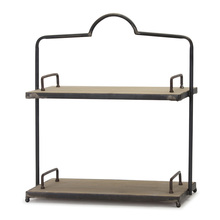 "More about the 'Double Shelf 16.5"" x 19""H Iron/Wood' product"